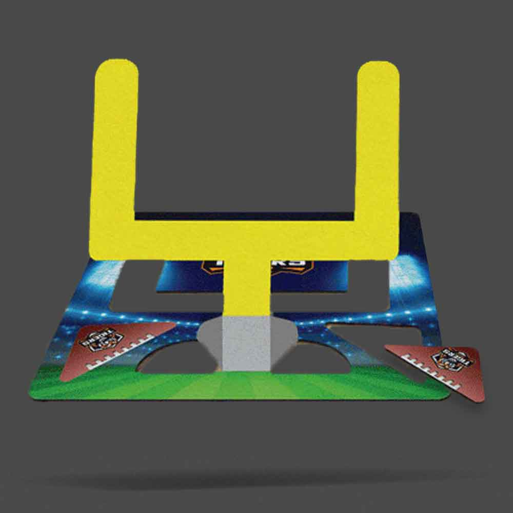 pop-ups! game coaster with football themed design