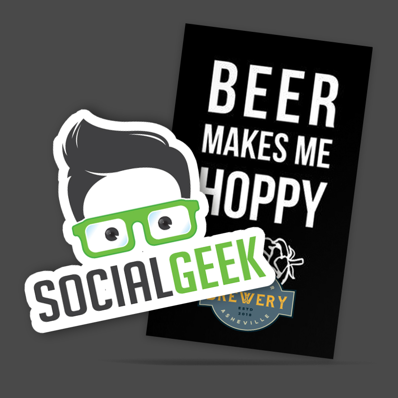 die cut custom stickers and custom sticker for brewery