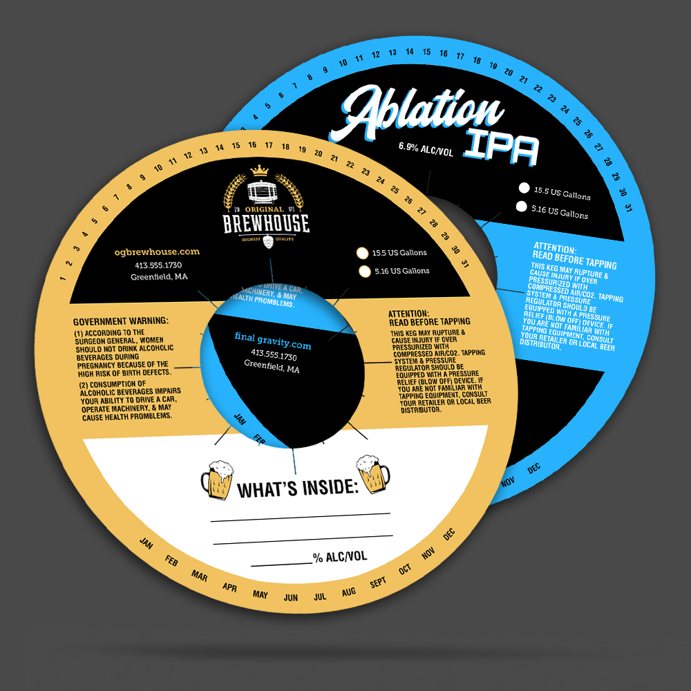 two keg toppers for brewery